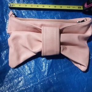 Torrid Pink Bow Clutch